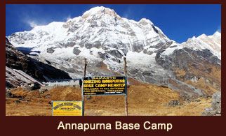 Annapurna Base Camp, one of the most favored trekking destinations in the Annapurna region of Nepal.