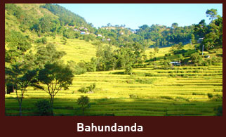 Bahundanda, an attractive village in the Annapurna Region of Nepal.