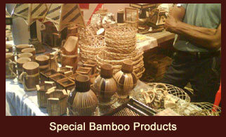 Special bamboo products reflecting the authentic design style from Sikkim.