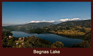 Begnas Lake, freshwater lake located in the Pokhara Valley of Nepal.