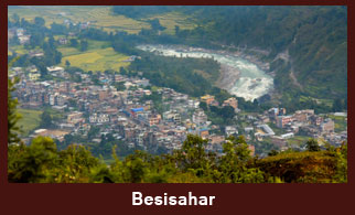 Besisahar, the headquarter of Lamjung district in Annapurna Region.