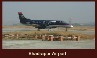 Bhadrapur Airport is located in the Jhapa district of Nepal.