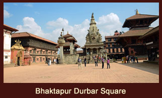 Bhaktapur Durbar Square, an ancient palatial culture in the historic city of Bhaktapur, Nepal, reflecting some incredible master pieces of ancient Newari arts and craftsmanship.