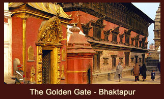 The Golden Gate in the Bhaktapur Durbar Square of Nepal, is said to be the most beautiful and richly moulded specimen of its kind in the entire world.