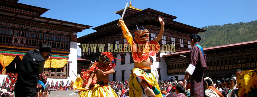 The Dragon Festival, one of the major festive events in Bhutan that attracts many international tourists.