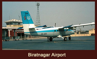 Biratnagar, the second largest city and an industrial hub of Nepal.