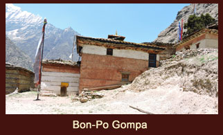Bon-po Gompa or Sentan Thasoon Chholing, an aged monastery in the far western region of Nepal that was built about 60 generations ago.