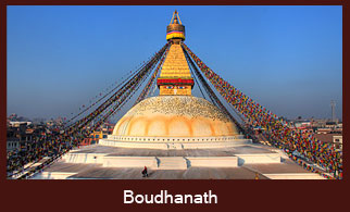 Boudhanath Stupa, the gigantic stupa in Kathmandu Nepal, regarded as the one of the most revered sites for Buddhist pilgrims in Nepal.