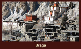Braga, a small village in the Annapurna region of Nepal, famous for old monasteries.