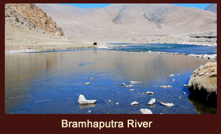 The Brahmaputra River flows through Tibet and India.