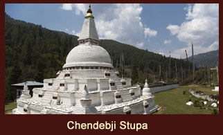 Recognized by its roundish shape and the eyes painted on its sides, the Chendebji Stupa in Bhutan carries a high significance for the local people.