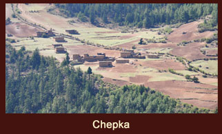 Chepka, a settlement in the far western region of Nepal that has only three hotels (trekking inns).