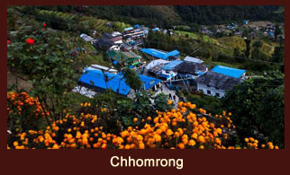 "Chhomrong, a large settlement in the Annapurna region mainly dwelt by the people of ""Gurung"" community."