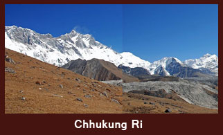 Chhukung Ri (5550 m) is a rocky peak, similar to Kala Patthar, above the village of Chhukung in the Everest region of Nepal.