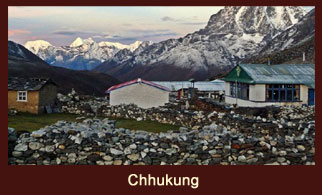 Chhukung is a lodge village serving trekkers and climbers in the Khumbu Region of Nepal in the Himalayas south of Mount Everest.