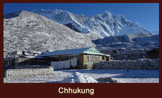 Chukhung is a lodge village serving trekkers and climbers in the Khumbu Region of Nepal in the Himalayas south of Mount Everest.