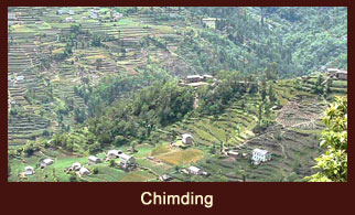 Chimding, a village in the Everest region of Nepal, especially known for the presence of old monasteries.