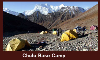 Chulu Base Camp (4900m), Annapurna Region, Nepal.