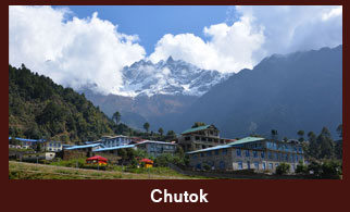 Chutok, a small settlement in the Everest region of Nepal.