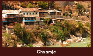 Chyamje, a village in the Annapurna region of Nepal.