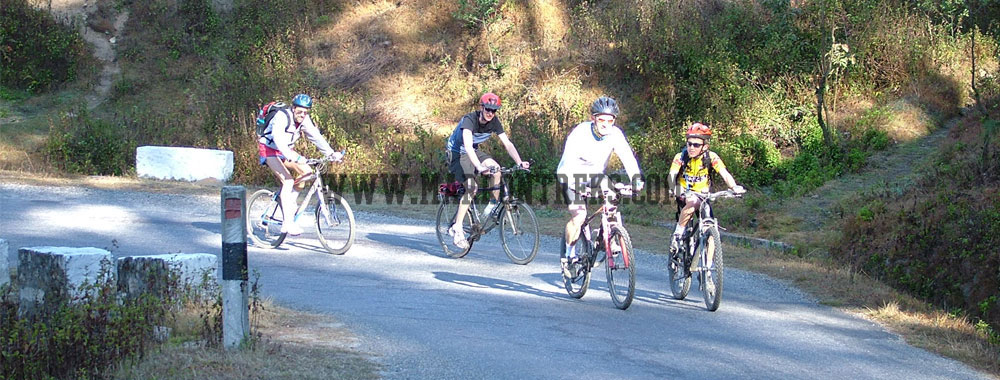 Cycling to Nagarkot, a covetous excursion destination, located 30 kms east of Kathmandu,  Nepal is boisterously perched at an altitude of 2175 meters..