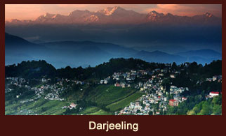 Darjeeling, a small school town and a stunningly beautiful hill station in the Indian state of West Bengal.