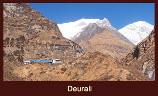 Deurali, a small village in the Annapurna region of Nepal.