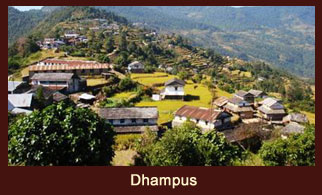 Dhampus, a scenic village in the Annapurna region of Nepal, regarded as the vantage point to witness the Annapurna region.