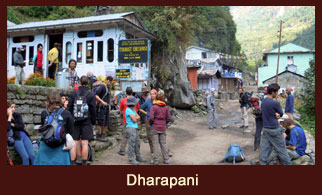 Dharapani, a small village in the Annapurna region, Nepal.