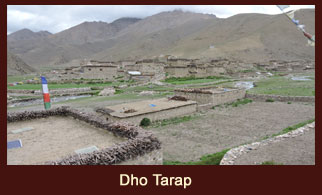 Dho Tarap, a lovely village in the far western region of Nepal, untidyly yet attractively fortressed by irregular stone walls.