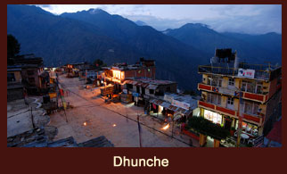 Dhunche, the Headquarter of Rasuwa district of Nepal.