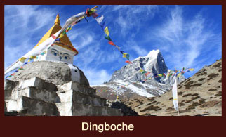 Dingboche, a popular trekkers' stop in the Everest region of Nepal, that offers exclusive mountain views of Ama Dablam, Thamserku, Imja Tse, Tawoche and many more.