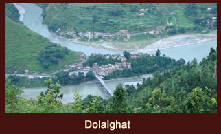 Dolalghat is a beautiful village in Nepal known for its terraced fields and traditional Nepali houses.