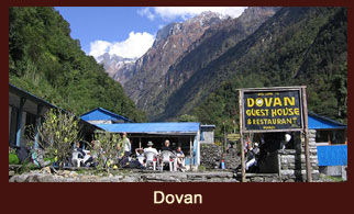 Dovan, a small settlement in the Annapurna region of Nepal.