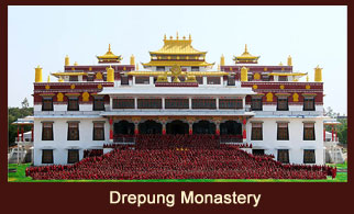 Drepung Monastery is located in the city of Lhasa in Tibet.