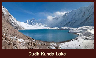 Dudhkunda Lake, which literally means, 'milk pond', is a sacred lake in the Everest region of Nepal, perched at the bottom of the Numbur Himal.