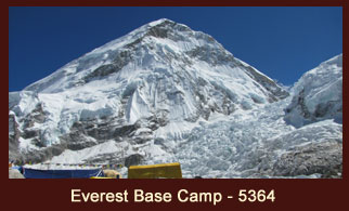 The Everest Base Camp, one of the most iconic trekking destinations in the Everest region of Nepal.