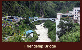 The Sino-Nepal Friendship Bridge links Kodari in the Sindhulpalchok district of Nepal with Chinese province of Zhangmu.