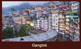 Gangtok, a lavish capital city of the Indian state of Sikkim.