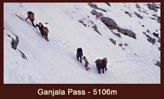 Ganja La Pass (5106m), one of the most popular yet daunting passes in the Langtang region of Nepal.