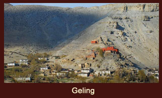 Geling, a small settlement in the Annapurna region of Nepal.