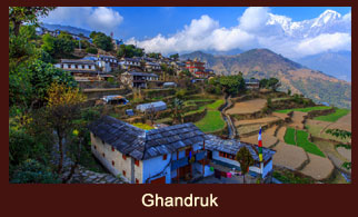 Ghandruk, a beautiful village in the Annapurna region of Nepal, inhabited mostly by the people of
