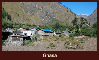Ghasa, a village in the Annapurna region of Nepal.