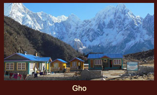 Gho, a small settlement in the Annapurna region of Nepal.
