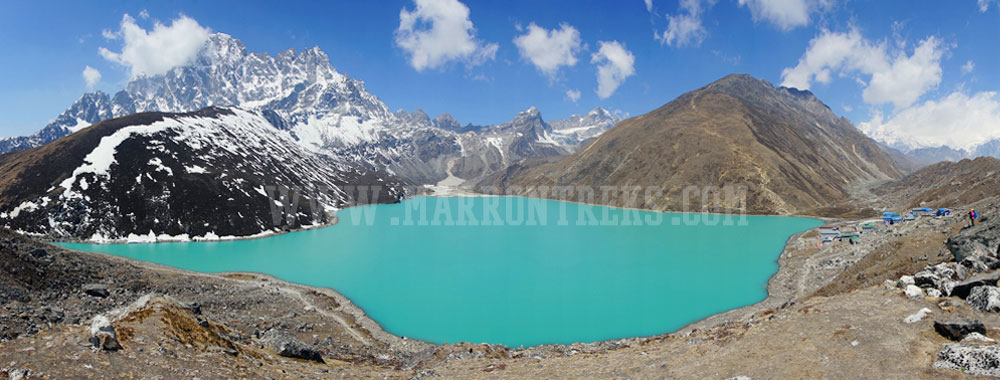 Gokyo, a beautiful village at the base of the Gokyo Ridge in the Everest region of Nepal.