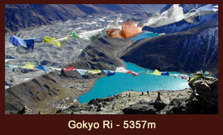 Gokyo Ri, an exclusive vantage point in the Everest region of Nepal offering you the jaw-dropping views of Cho Oyu, Everest, Cholatse, Makalu, Tawoche and also the Ngozumpa Glacier.
