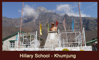 Khumjung School (also known as Hillary School) is located in the heart of the Sagarmatha National Park in the Khumbu region of Nepal.