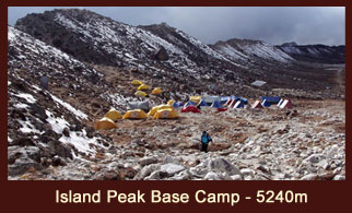 Island Peak Base, Everest Region, Nepal.