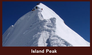 Island Peak (6187m), also known as Imja Tse, is a popular peak in the Everest region of Nepal.