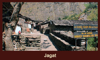 Jagat, a small village in the Annapurna region, Nepal.